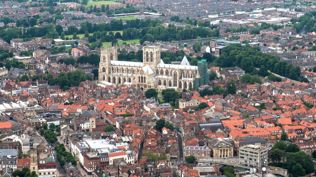 York Minster from the air