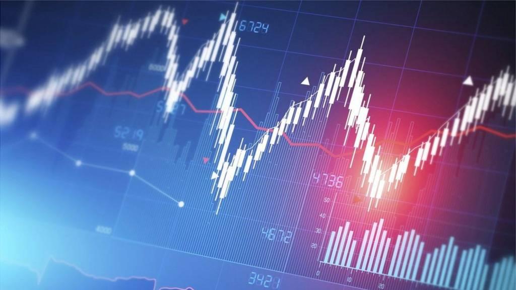 Share price chart graphic