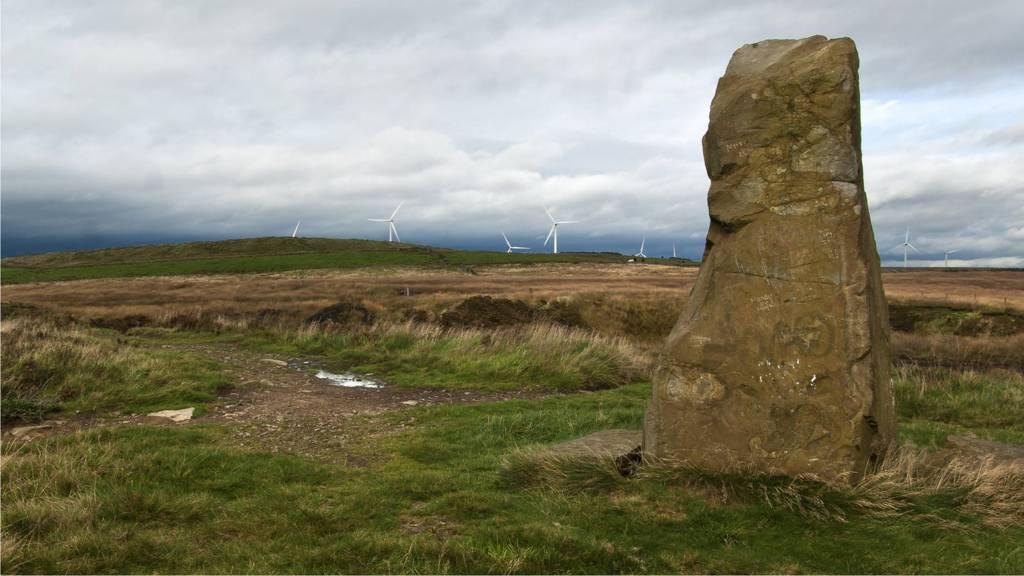 Standing stone near Pickup Bank