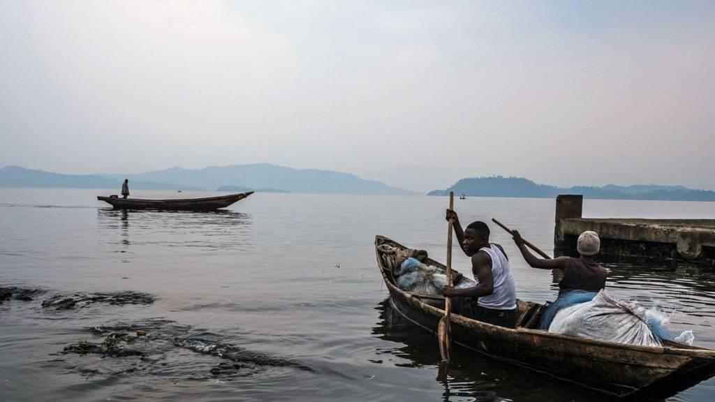 Fishermen on Lake Kivu, Goma, DR Congo