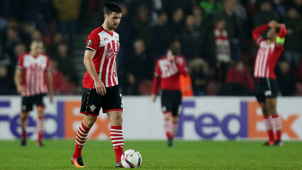 Southampton players dejected
