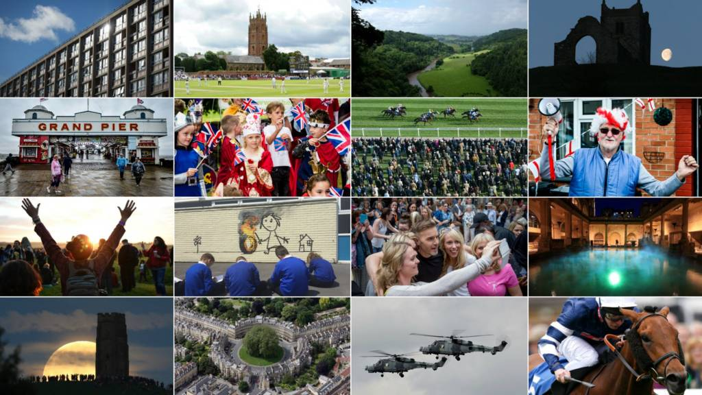 A montage of images from the West of England