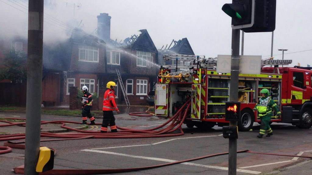 Fire at Lovell Lodge