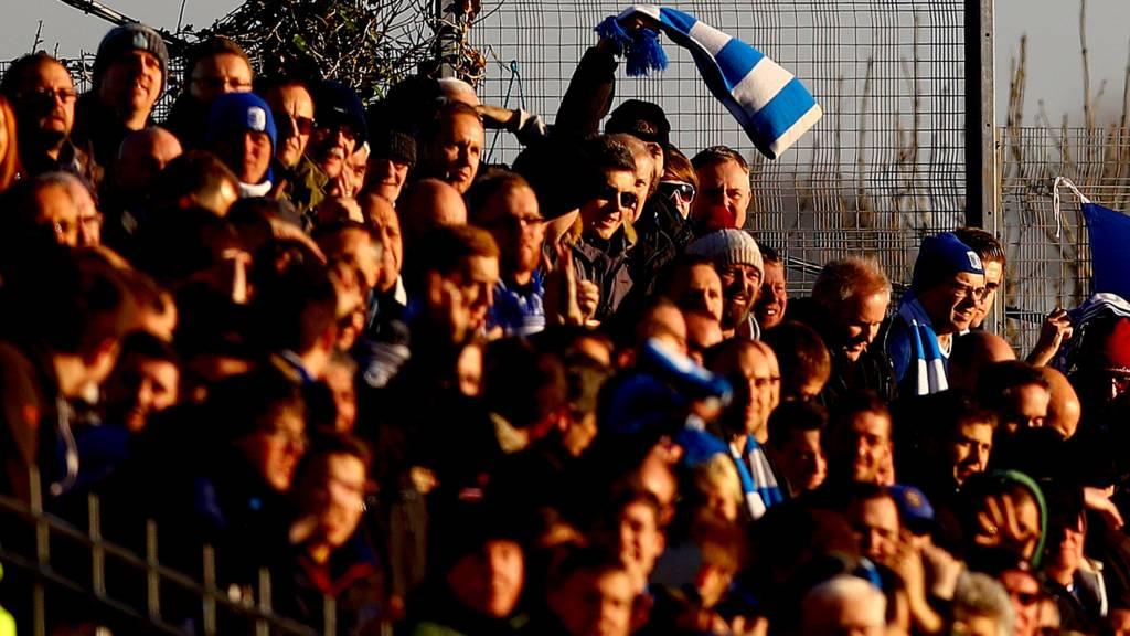 Barrow fans celebrate