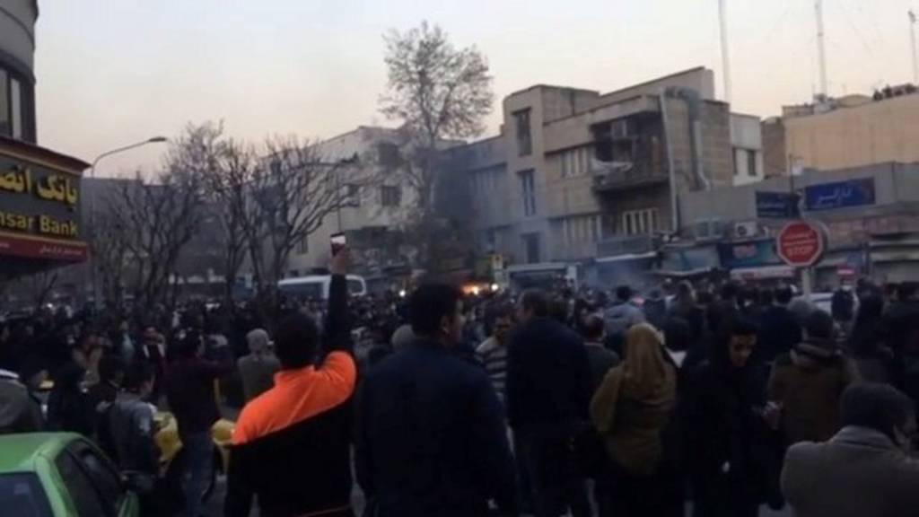 محتجون في طهران