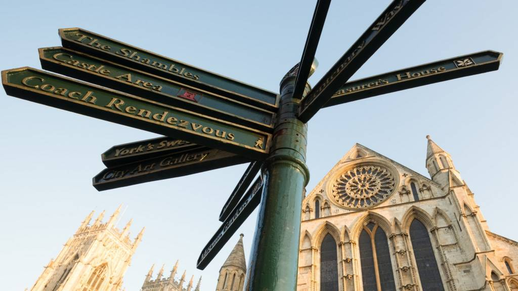 York Minster and sign