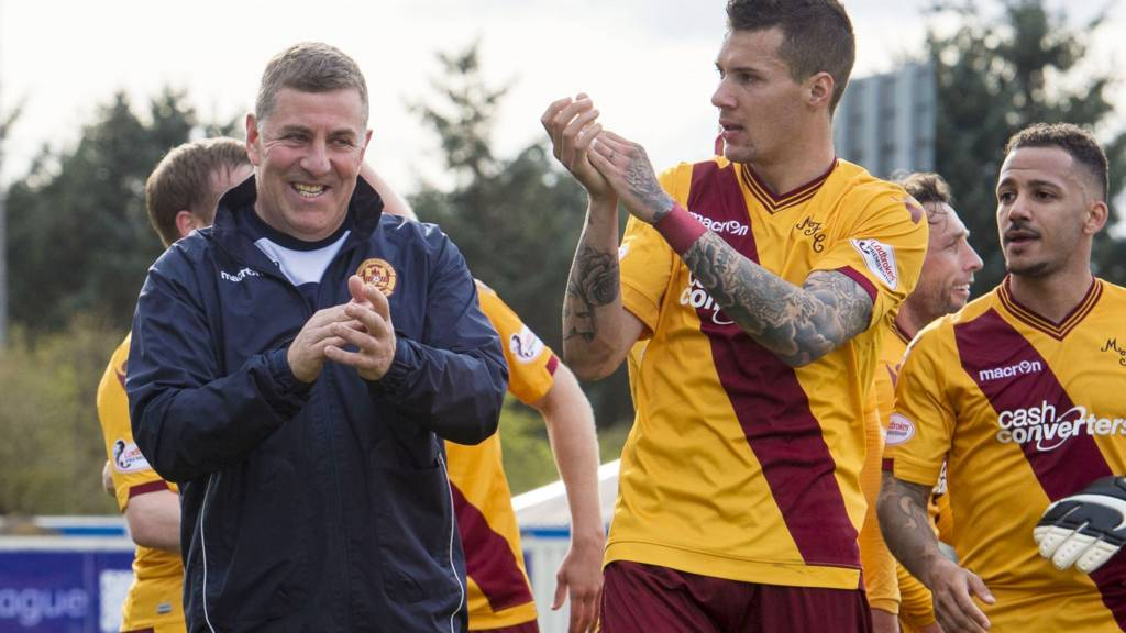 Motherwell celebrate their win