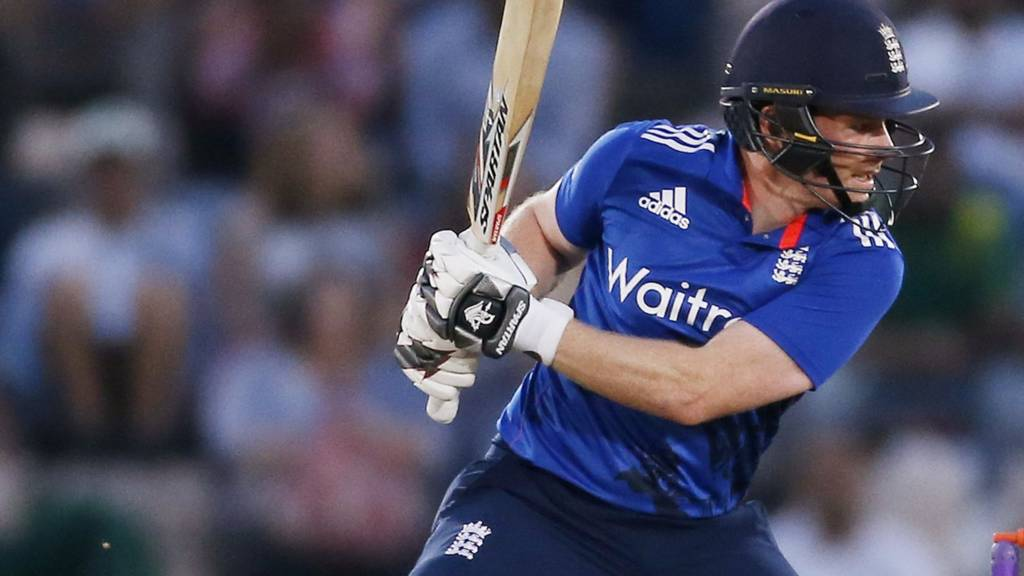 England's Eoin Morgan batting