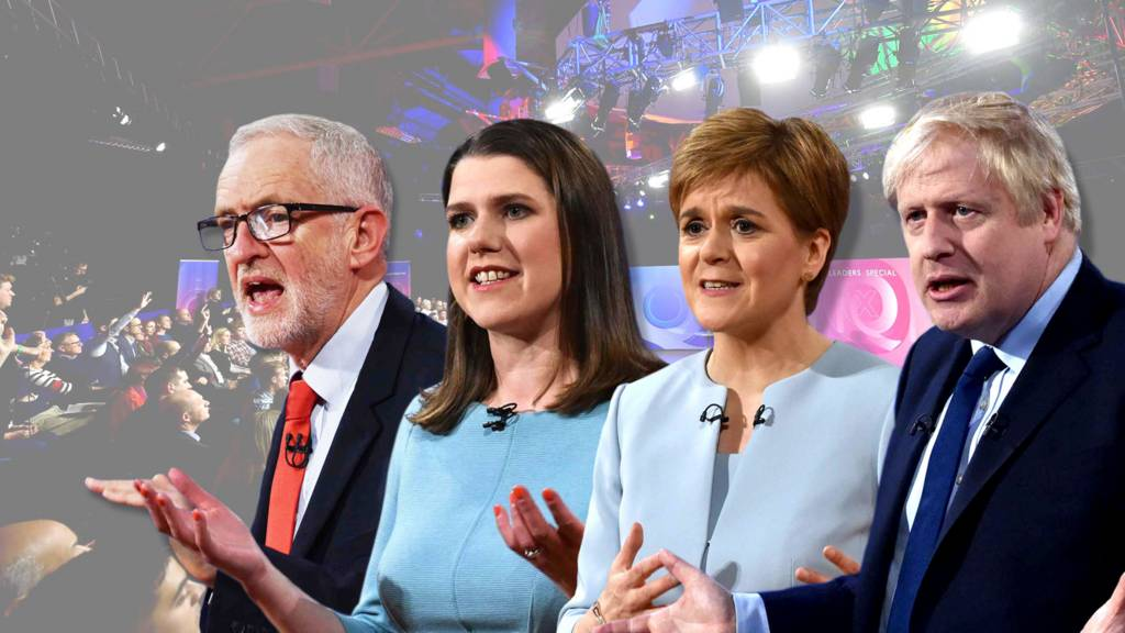 Composite of leaders at the Question Time Special