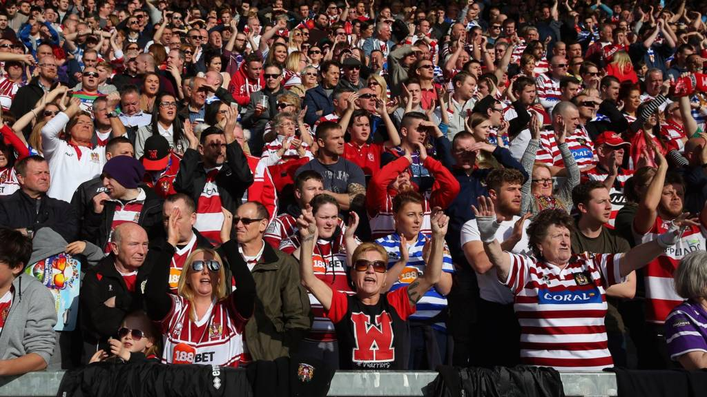 Wigan Warriors' fans