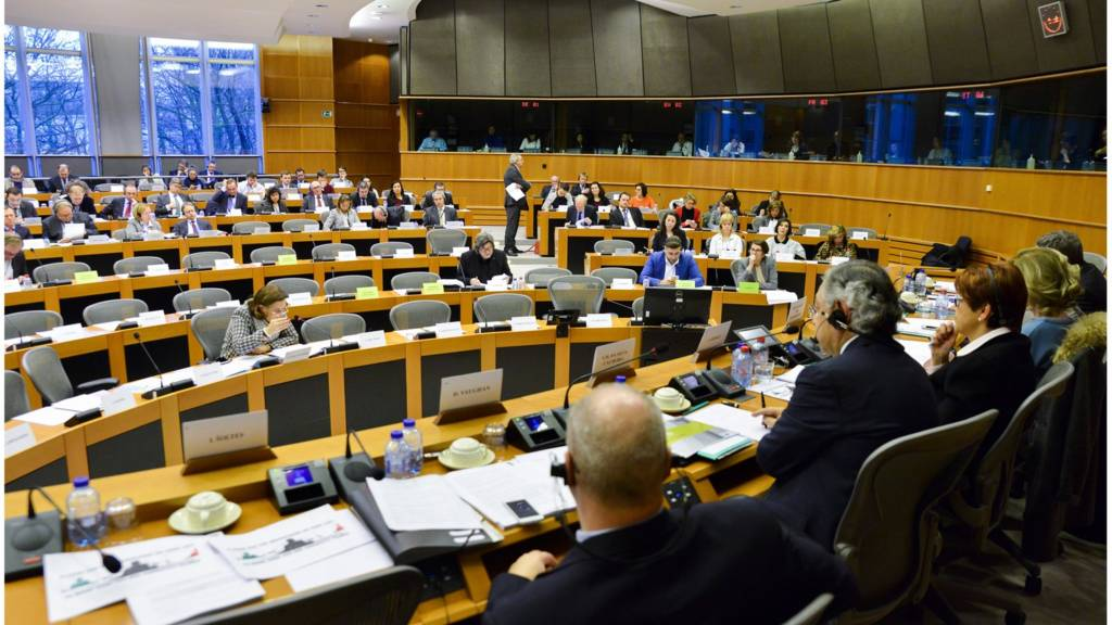 European Parliament committee wideshot