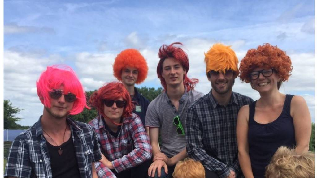 Easton Otley students dressed as Ed Sheeran