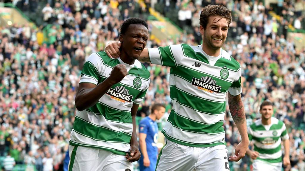 Celtic defenders Dedryck Boyata and Charlie Mulgrew