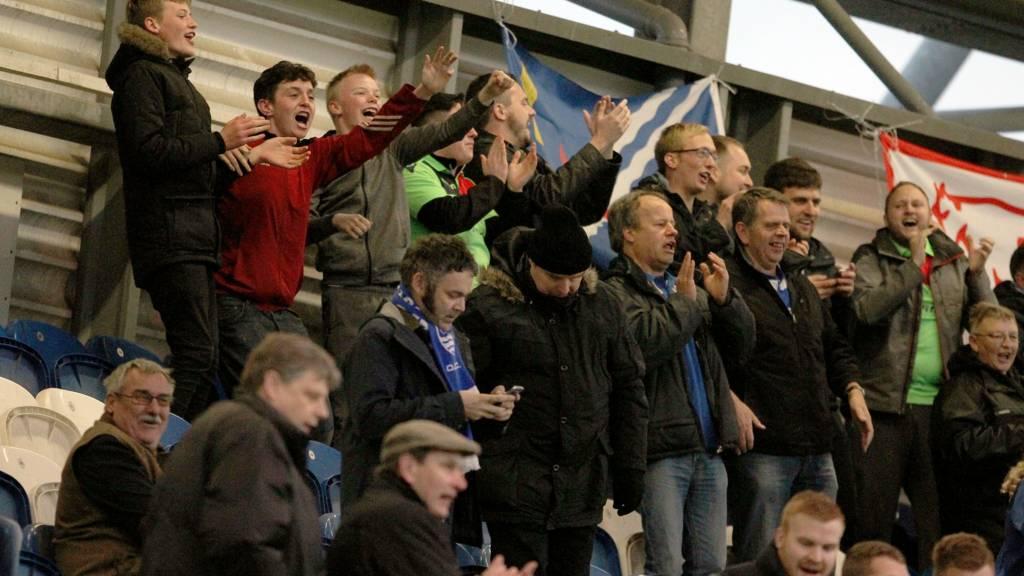 Oxford City fans celebrate