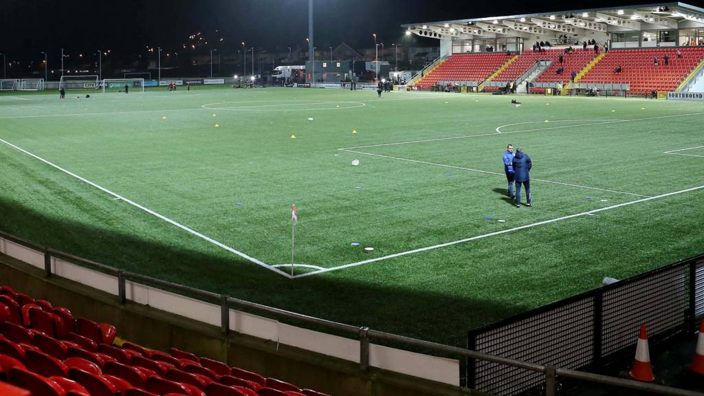 General view of the Brandywell Stadium