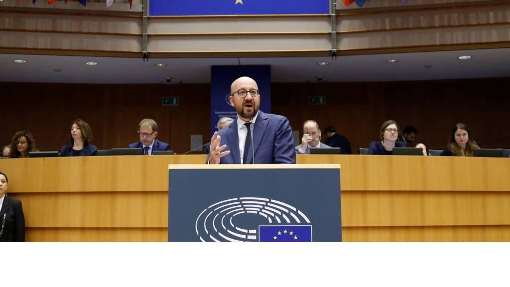 Charles Michel at the European Parliament