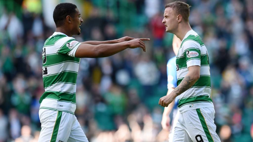 Saidy Janko and Leigh Griffiths
