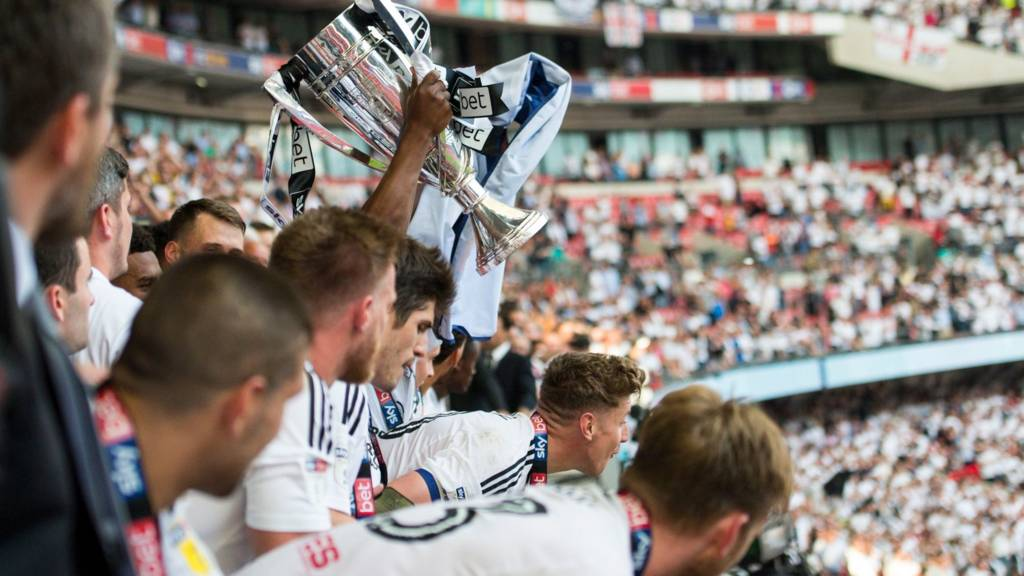 Fulham lift the trophy