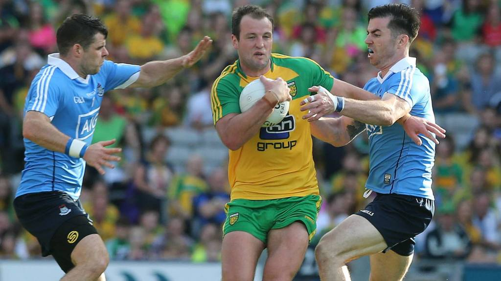Michael Murphy (centre) is likely to be a key performer for Donegal against Dublin