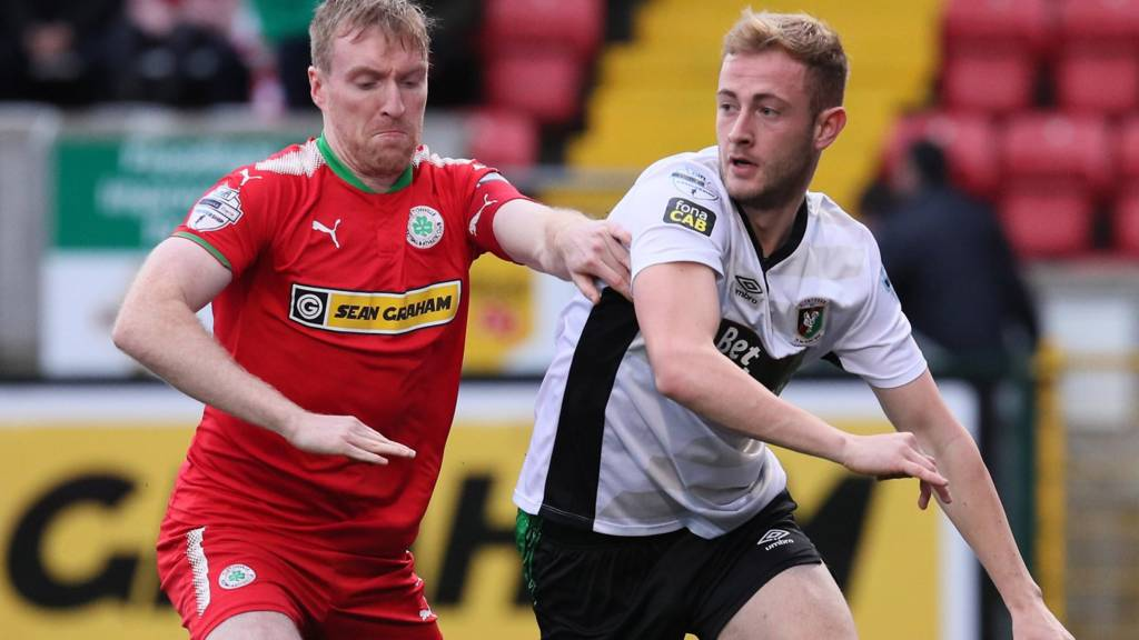 Cliftonville are playing Glentoran at Solitude