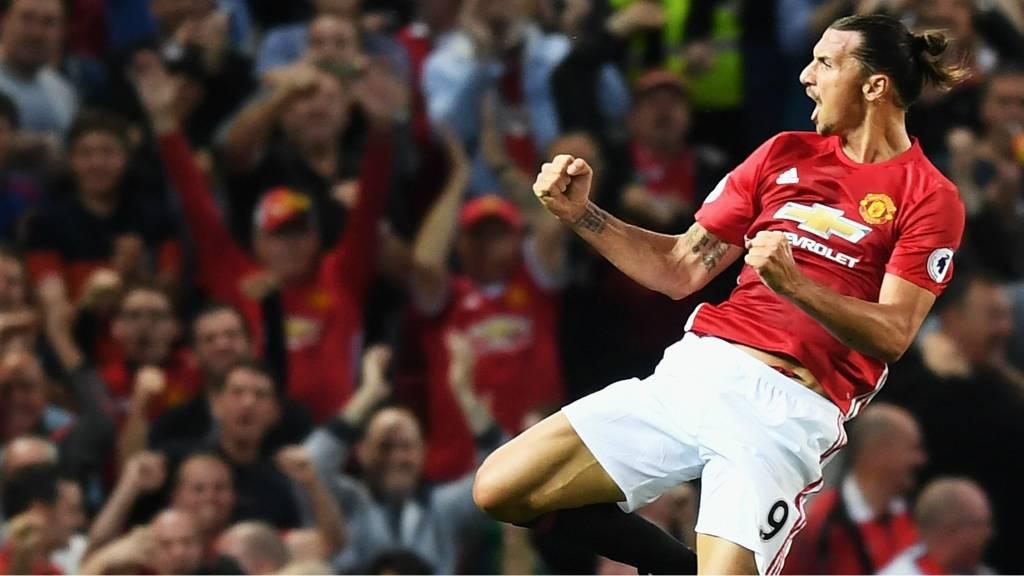 Man Utd's Zlatan Ibrahimovic