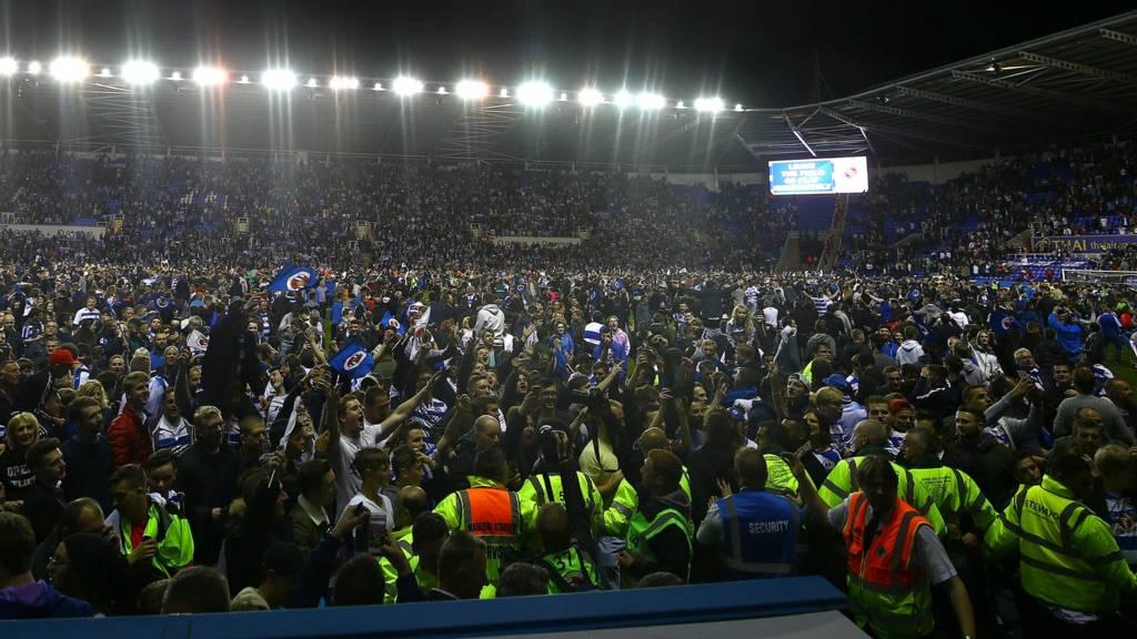 Reading fans celebrate