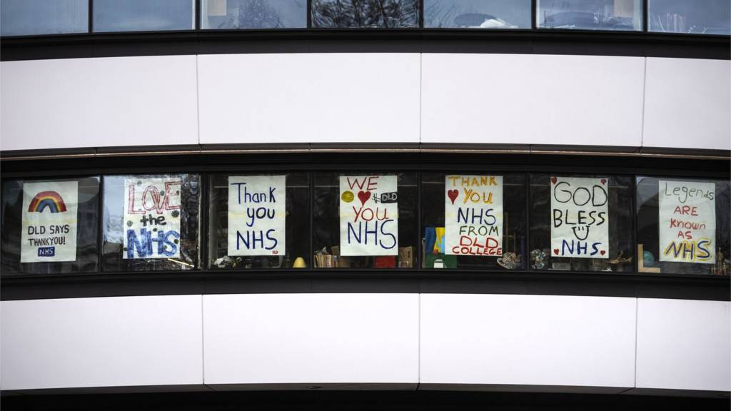 Posters support the NHS