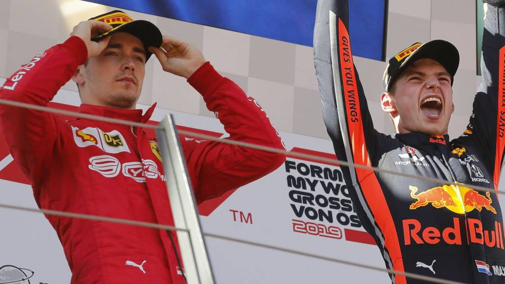 Charles Leclerc and Max Verstappen