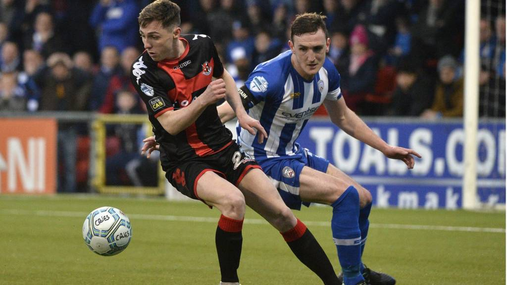Crusaders are playing Coleraine at Seaview