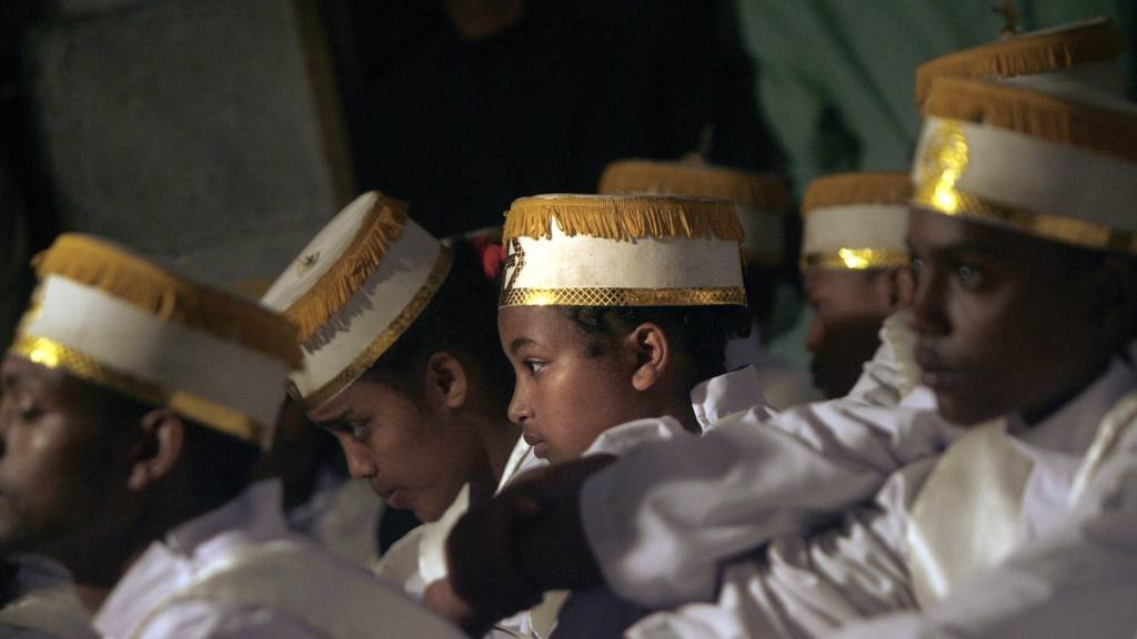 Boys at a traditional ceremony