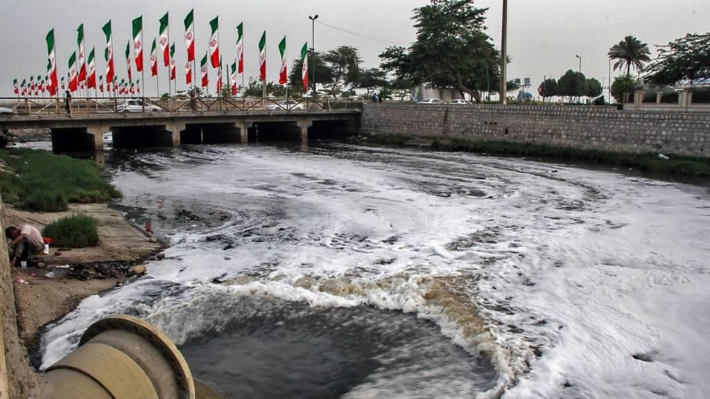 ورود فاضلاب به خلیج فارس