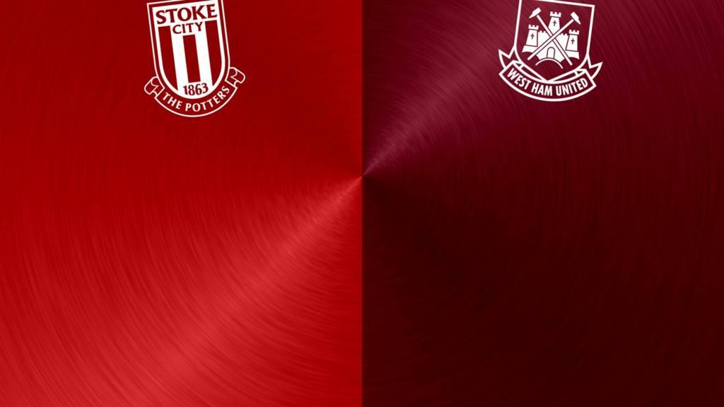 Stoke v West Ham badges