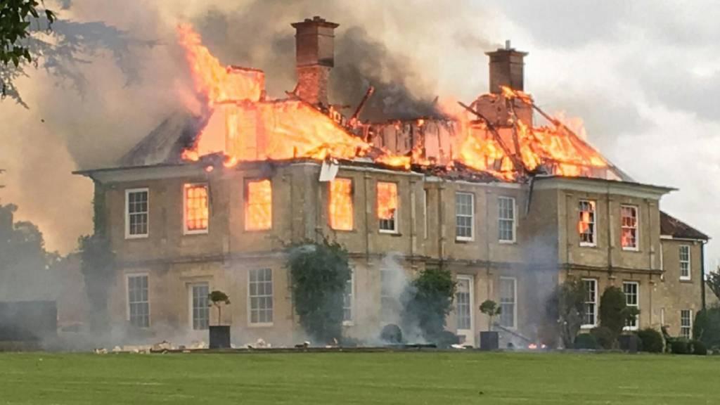 Cosgrove Hall fire