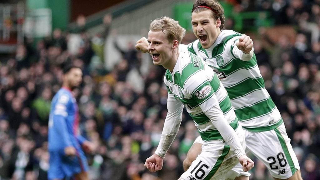 Gary Mackay-Steven celebrates his goal against Inverness CT