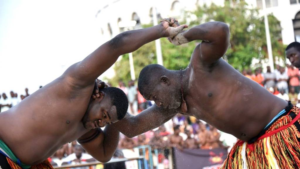 Traditional wrestlers in Nigeria