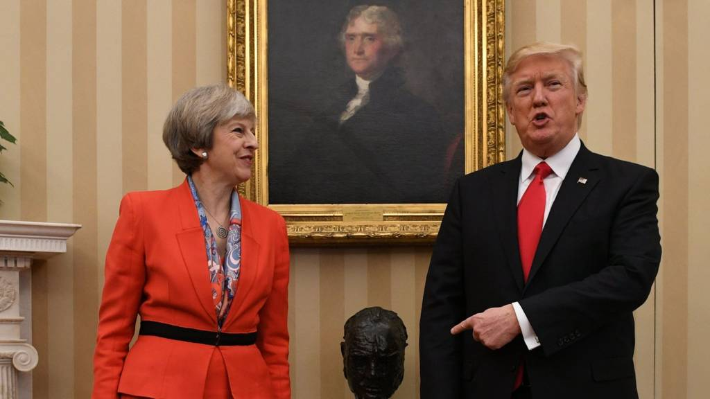 Image result for pictures of donald trump with theresa may