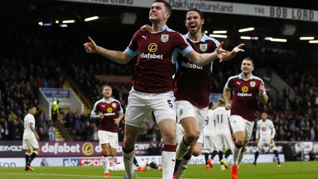 Burnley celebrate second goal