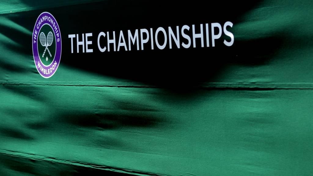A Wimbledon Championships sign