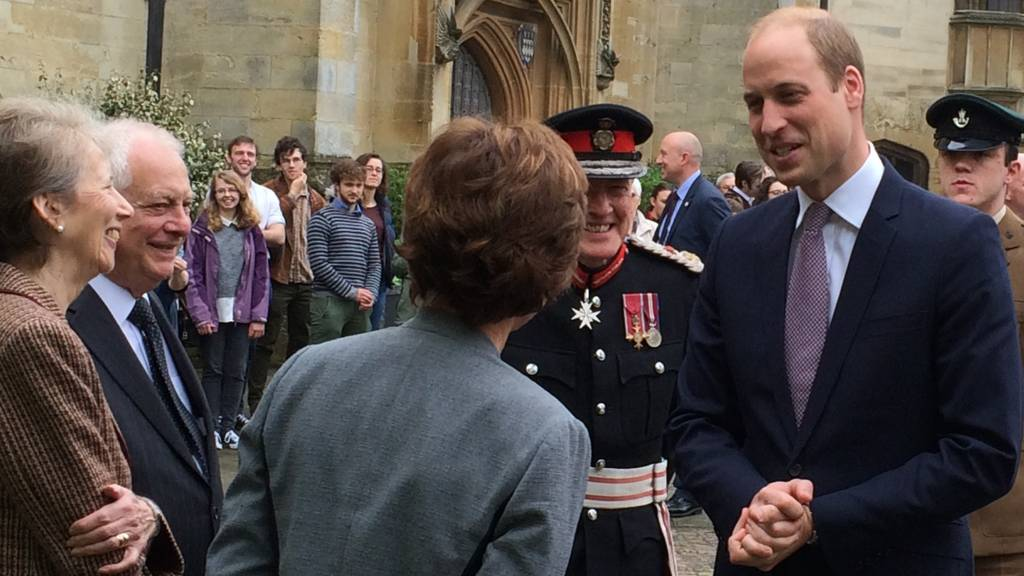 Prince William at Oxford