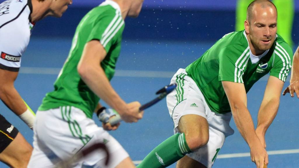 Ireland's Peter Caruth with the ball