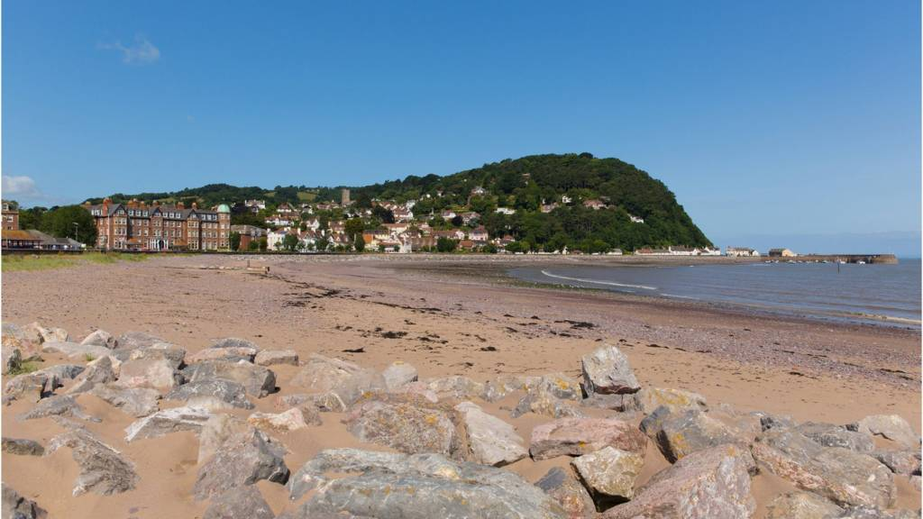 Minehead sea front in the summer