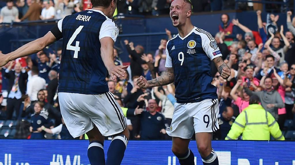 Scotland striker Leigh Griffiths celebrates
