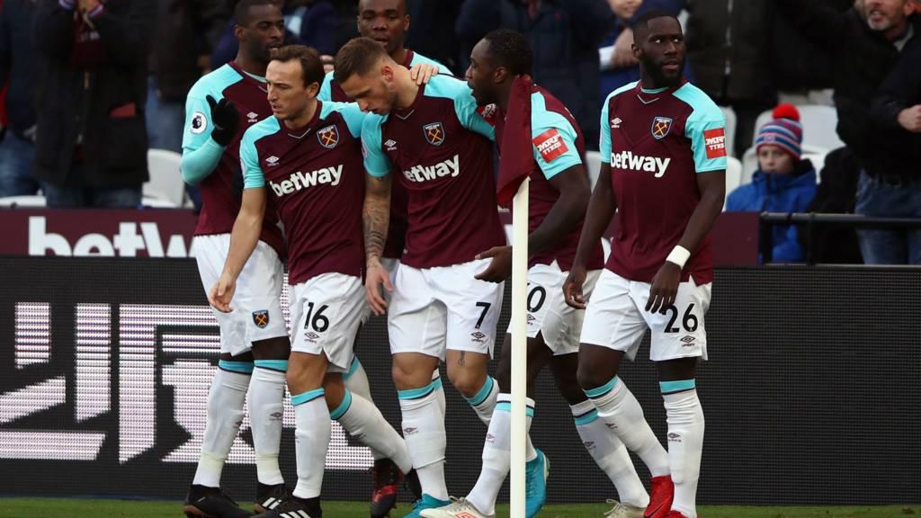 West Ham celebrate first goal