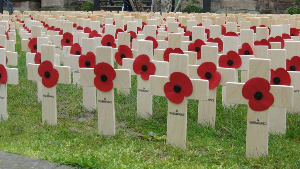 Field of Remembrance at Hereford Cathedral