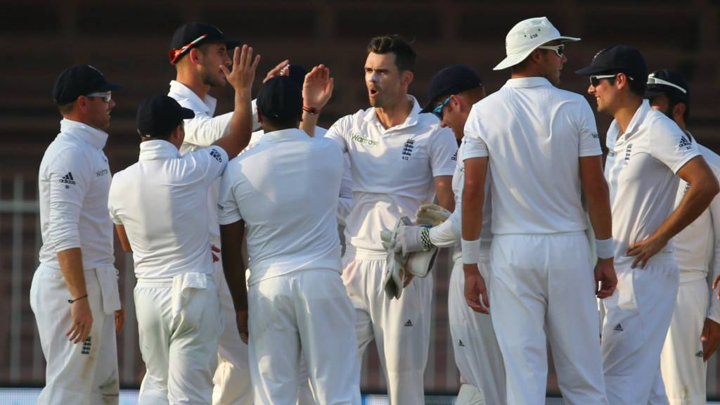 England celebrate taking a wicket