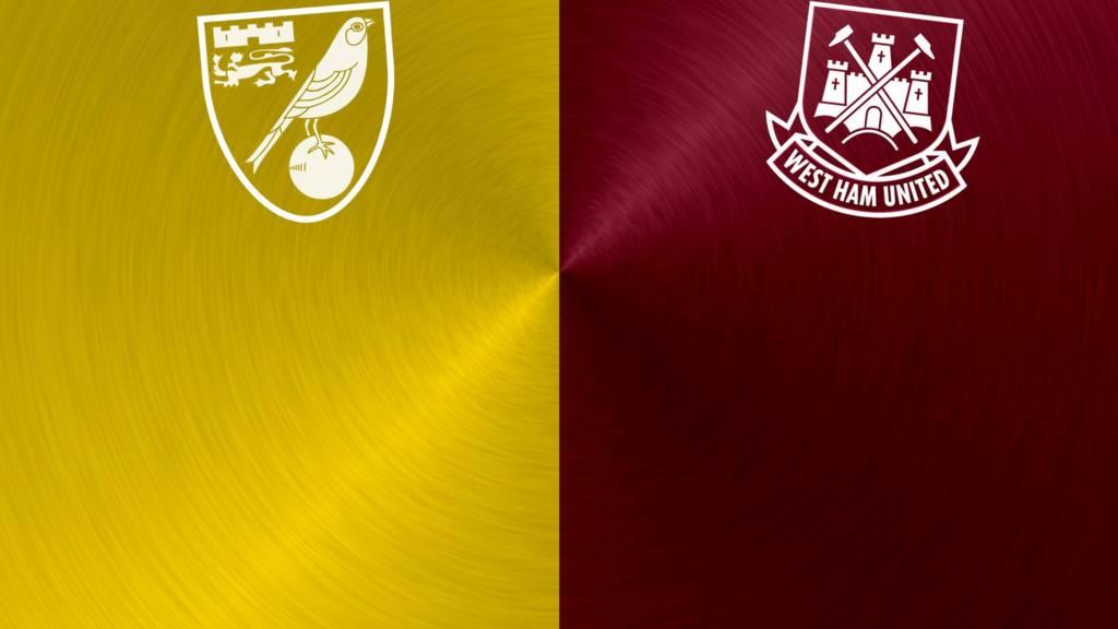 Norwich v West Ham badges