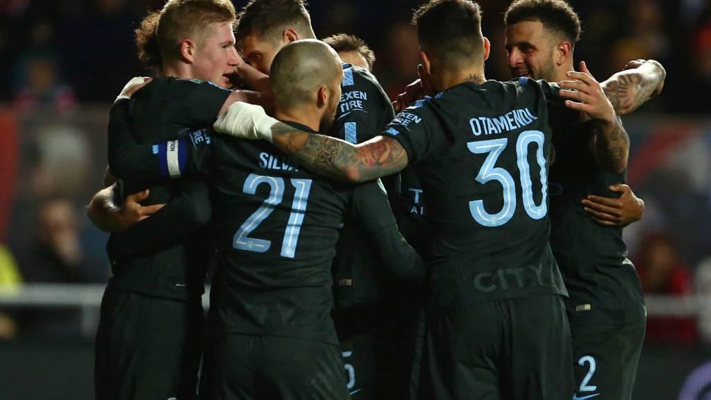 City celebrate second goal