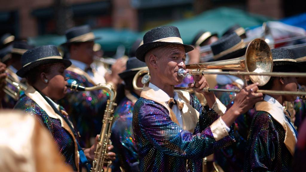 South African brass band