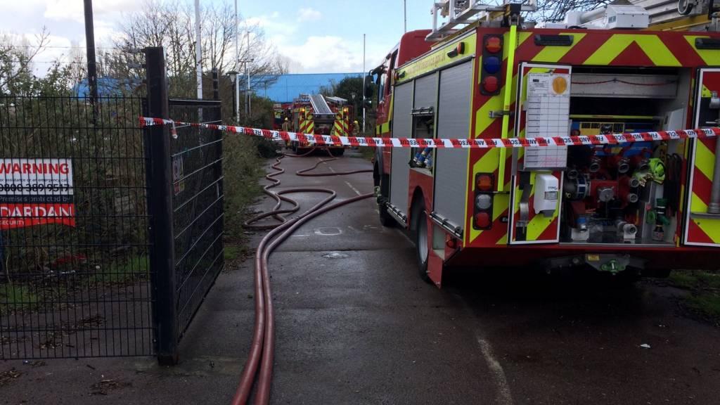 Fire appliances at Pontins