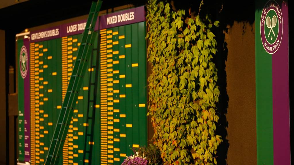 Wimbledon order of play board